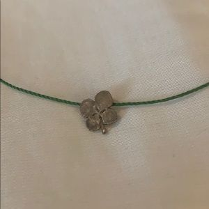 Dogeared Make a Wish Four Leaf Clover Necklace